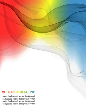 transparent wave abstract background vector