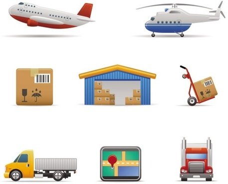 transport icon 02 vector