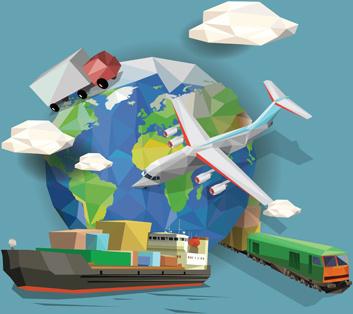 transportation business template vector design