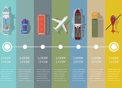 transportation business template vector design