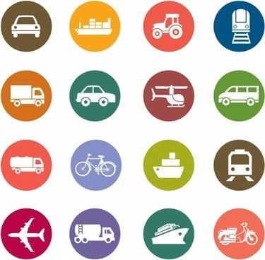 Transportation Color Icons