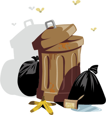trash and garbage bags design vector