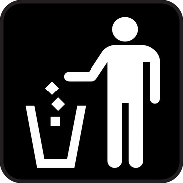 Trash Litter Box clip art