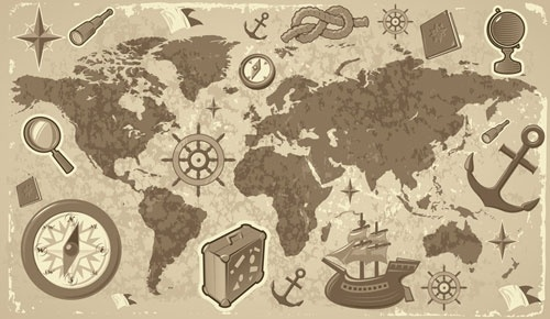 travel and tourism elements of vector 2