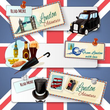 travel banner with stamp vector