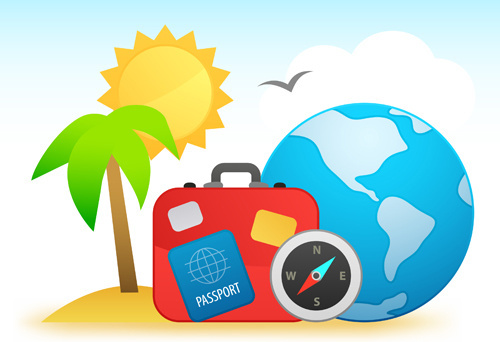 travel design elements vector art