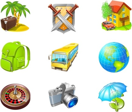 Travel Icon Set icons pack
