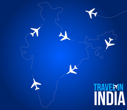 travel in india free vector