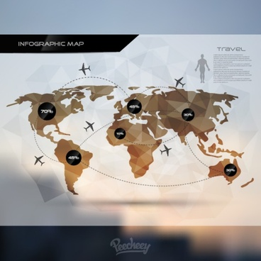 travel infographic map