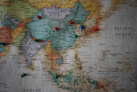 travel map asia