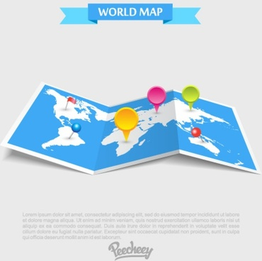 travel map in perspective