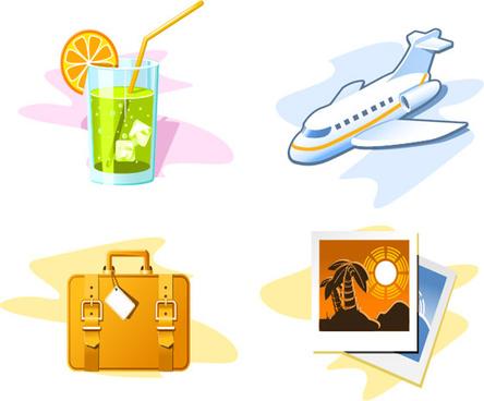travel theme icon vector