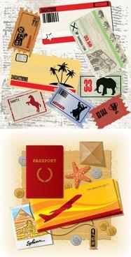 travel theme vector
