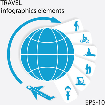 travel with earth infographics elements