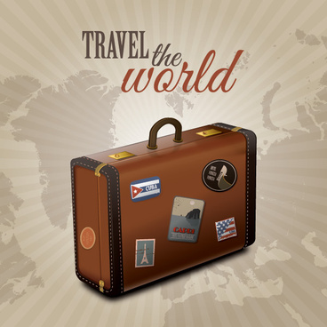 travel world retro background graphic