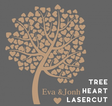 tree heart lasercut
