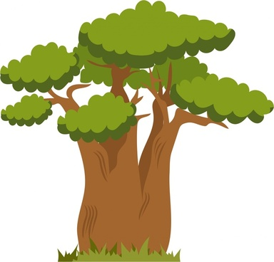 tree icon design in color style