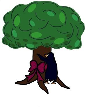 Tree loving penguin