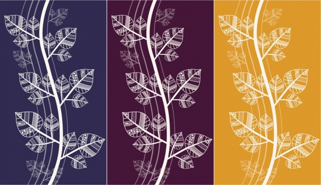 tree seamless pattern design white classical curves design