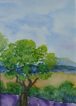 trees landscape painting