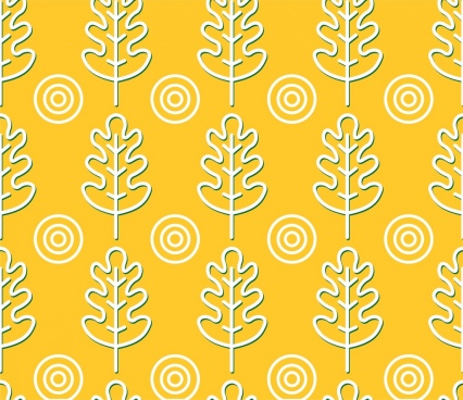 trees pattern outline flat repeating style