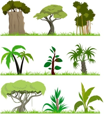 trees theme vector