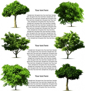 ecological background template modern green trees sketch