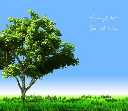 trees meadow background realistic colored design