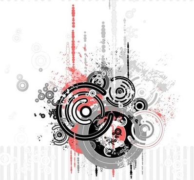 abstract background circles grunge style design