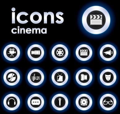 trend circular icon 01 vector
