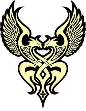 logotype design legendary eagle decoration classical style