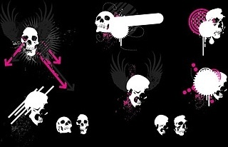 trend element vector skull and wings