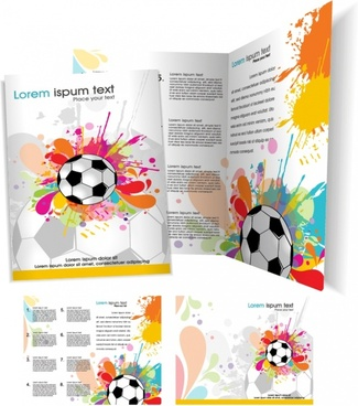 football magazine background colorful splashed grunge ink decor