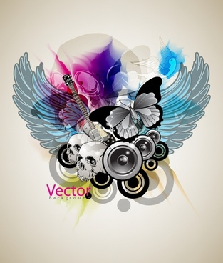 trend music theme vector