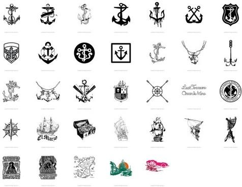 trend nautical theme vector 33