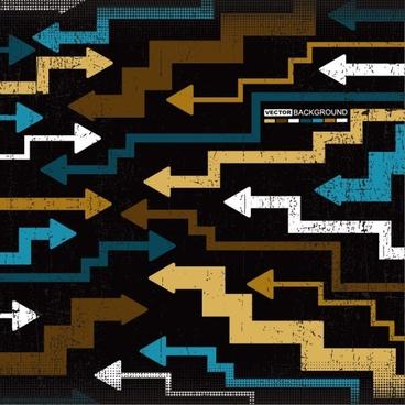 trend of colored arrows 11 vector