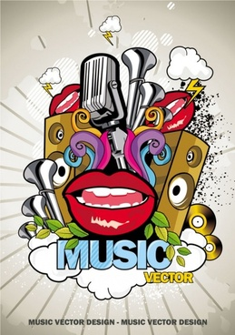 trend of music posters 02 vector