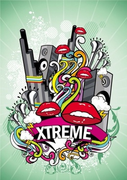 trend of music posters 03 vector