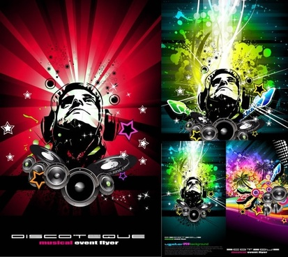 trend of music posters vector