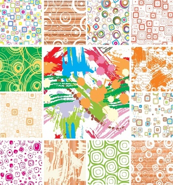 decorative background templates colorful abstract grunge geometric themes