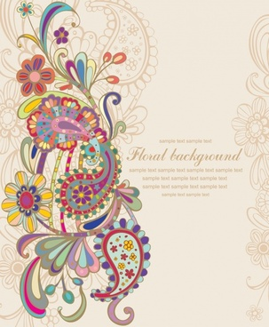 floral background classical colorful petals decor