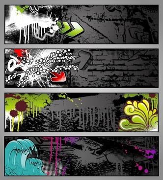 graffiti background templates modern dark grunge dynamic abstraction
