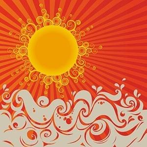 trend sunset element vector