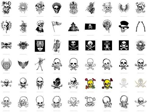 trend vector series 1 skull and crossbones 54
