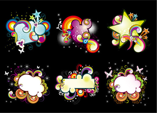 trends in the floral dialog frames vector