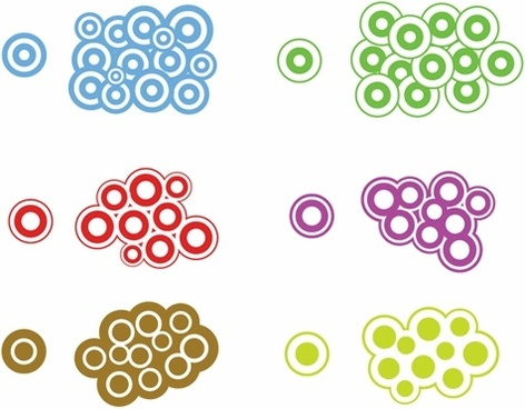 Trendy Circles Vector