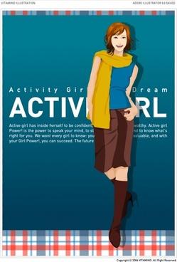 trendy girl vector