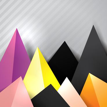 triangle embossment colored background vector graphics