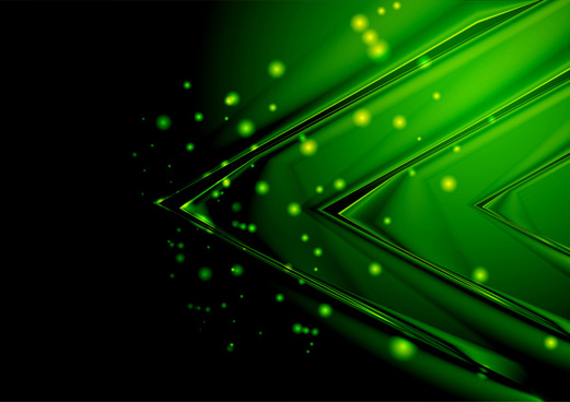 triangle green abstract background