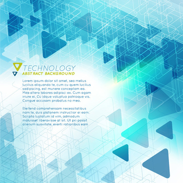 triangle technology abstract background vector